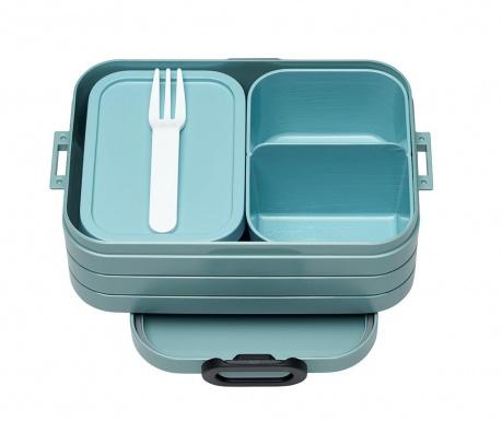 Škatla za hrano z 1 kosom jedilnega pribora Bento Green S