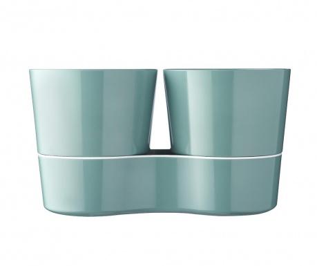 Σετ 2 γλάστρες με συστήματα αυτόματου ποτίσματος Hydro Herb Green