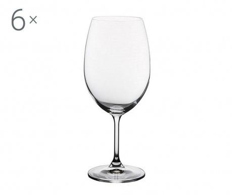 Set 6 pahare pentru vin Bohemia Royal Martina Crystalite 590 ml