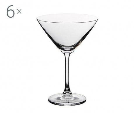 Set 6 pahare pentru cocktail Royal Martina Crystalite 285 ml