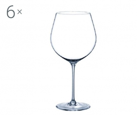 Set 6 pahare pentru vin Rona Prestige Crystalite 610 ml