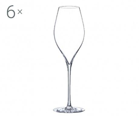 Set 6 pahare pentru vin Rona Swan Crystalite 320 ml