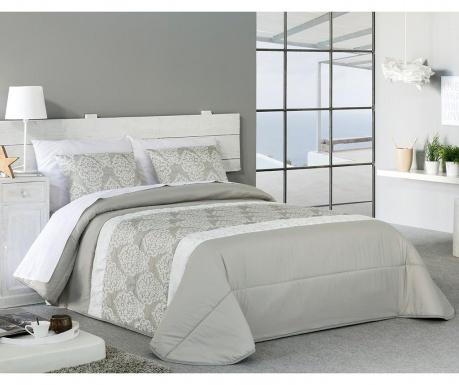 Set s prešitim posteljnim pregrinjalom Single Verni Beige