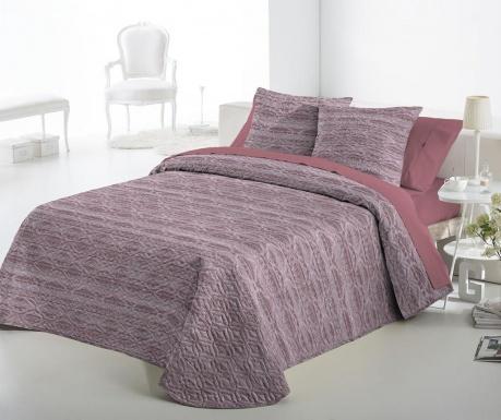 Set s prešitim posteljnim pregrinjalom King Fransin Pink