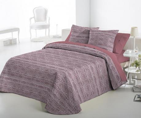 Set s prešitim posteljnim pregrinjalom Single Fransin Pink