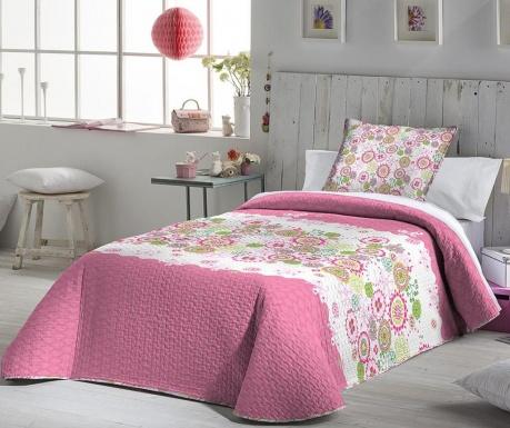 Set s prešitim posteljnim pregrinjalom King Vilma Pink