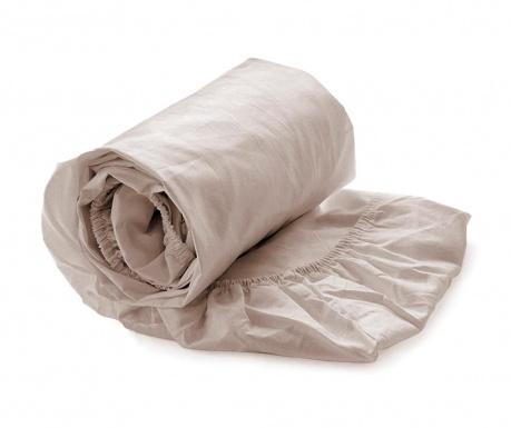 Cearsaf de pat cu elastic Satin Misty Rose 140x200 cm