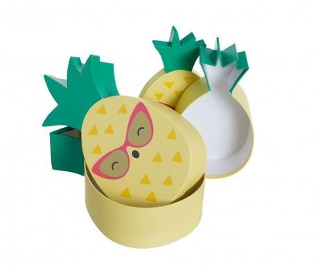 Set 3 cutii cu capac Pineapple