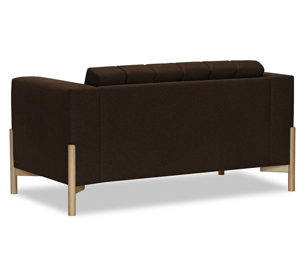 Canapea 2 locuri Haki Ontario Dark Brown