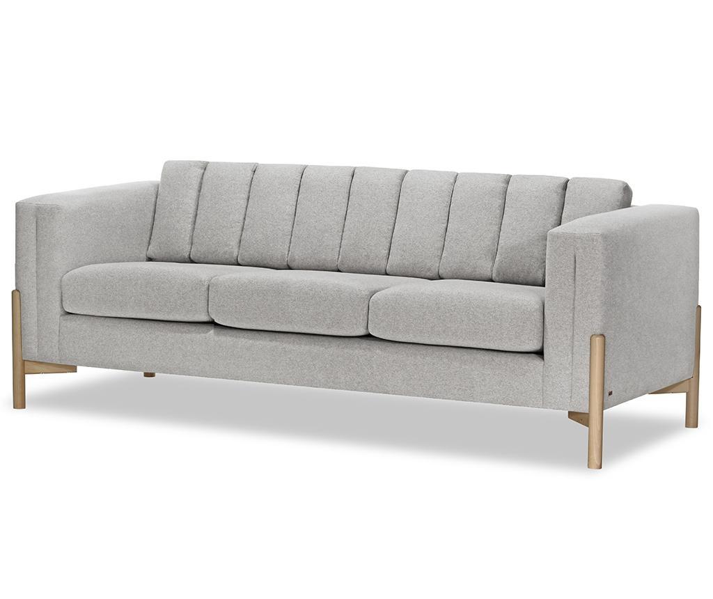 Canapea 3 locuri Haki Ontario Light Grey
