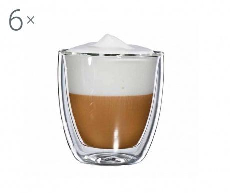 Large 6 db  Cappuccino pohár 250 ml