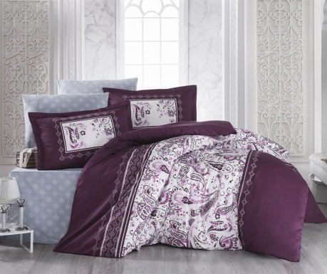 Komplet pościeli King Satin Supreme Advina Bordeaux