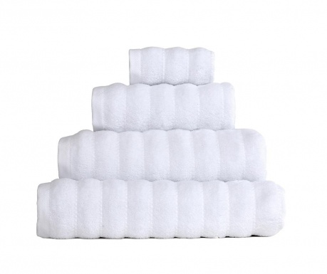 Kopalniška brisača Frizz White
