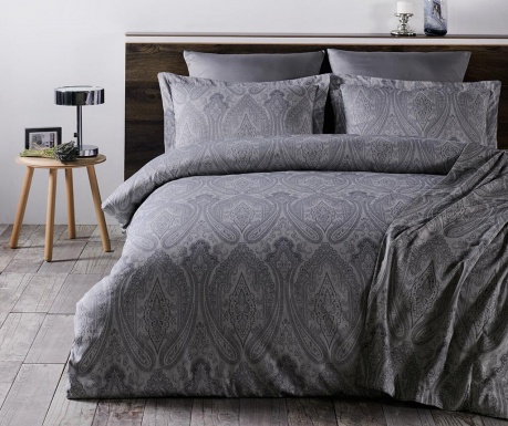 Спално бельо King Satin Jacquard Supreme Milano Grey