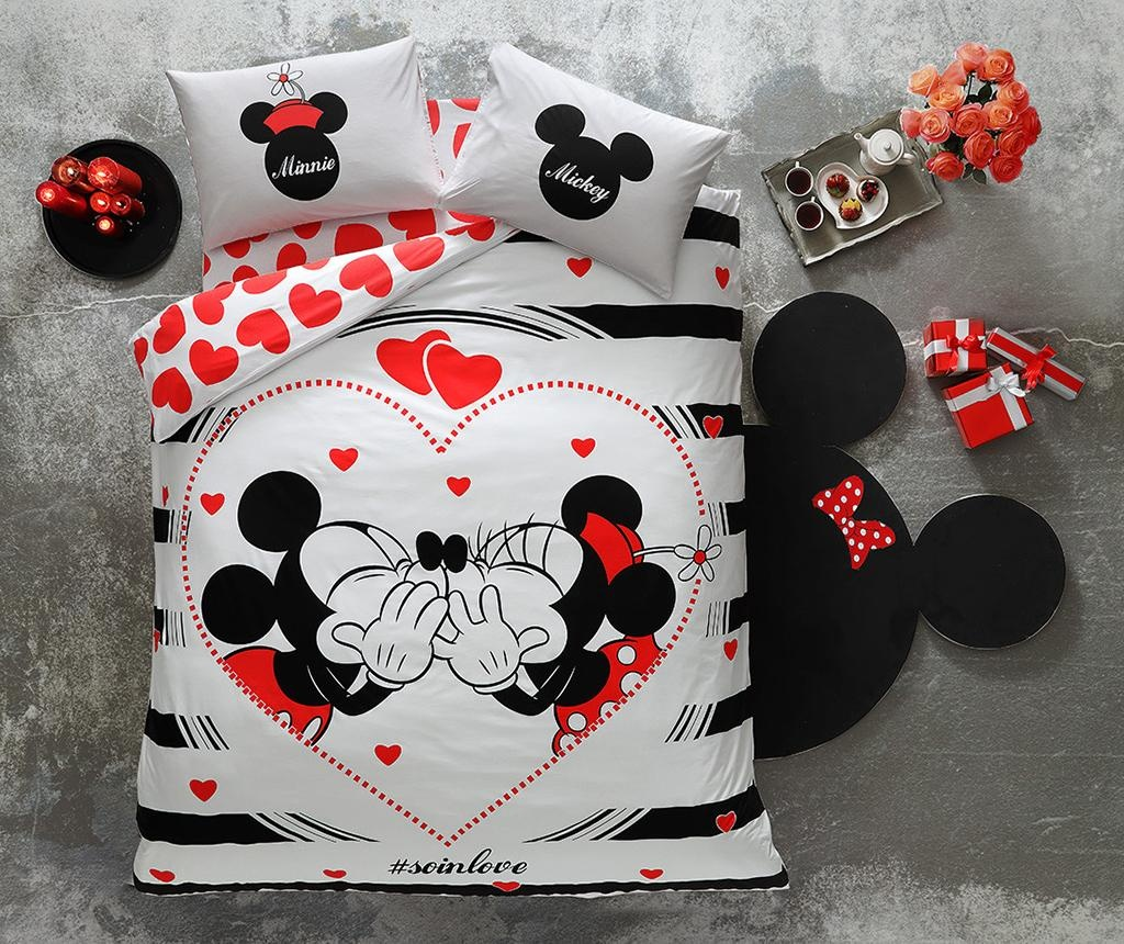 Lenjerie de pat Double Minnie & Mickey Amour 200x220