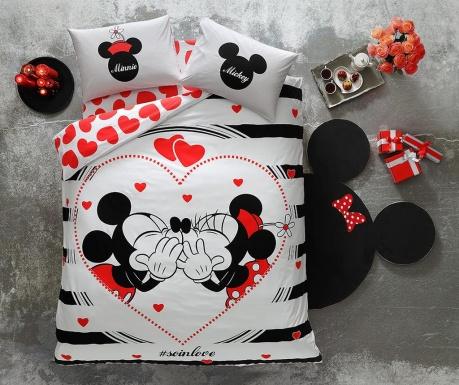 Lenjerie de pat Double Minnie & Mickey Amour
