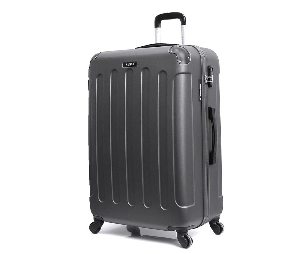 Madrid Dark Grey Gurulós bőrönd 31 L
