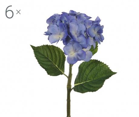 Set 6 umjetnih cvjetova Ortensia Blue