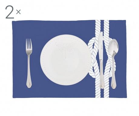Zestaw 2 podkładek stołowych Knot Blue 33x45 cm
