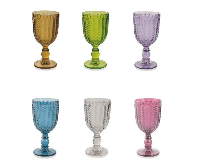 Set 6 čaša s nogom Diamond 300 ml