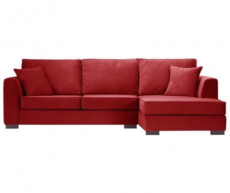 Rohová pohovka pravostranná Taffetas Glamour Red
