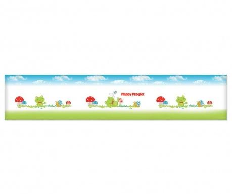 Protectie pentru patut Toby The Happy Froglet 40x210 cm