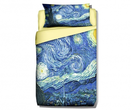 Komplet Pościeli Single Ranforce Van Gogh Starry Night