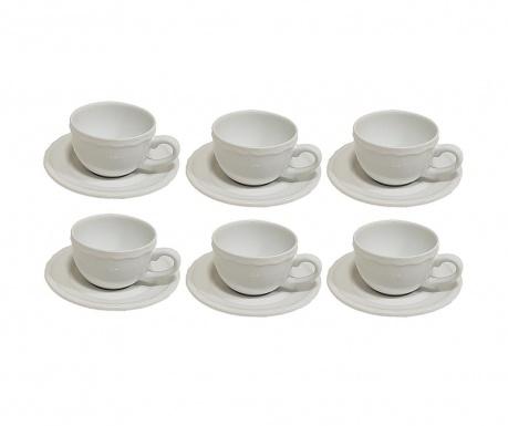 Set 6 skodelic in 6 krožničkov Juliet