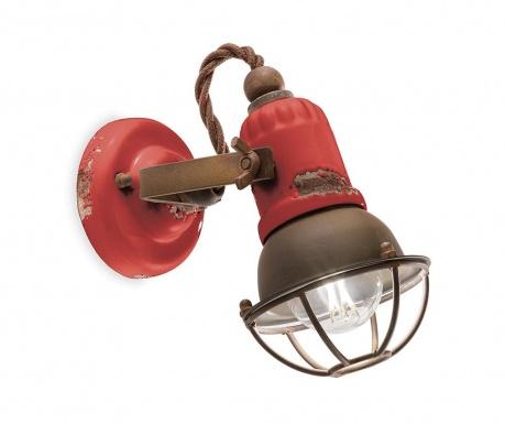 Loft Cage Red Fali lámpa