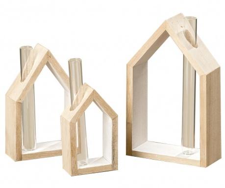 Set 3 vaze cu suport Houses