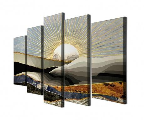 Sada 5 obrazů Sunrise