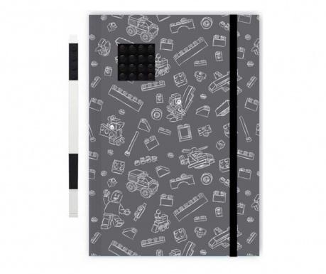 Set - beležnica in gel pisalo Lego Black