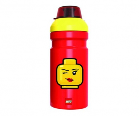 Butelka sportowa Iconic Girl Red Lego 390 ml