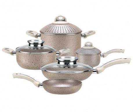 Siedmioczęściowy zestaw naczyń do gotowania Uniqum Perla
