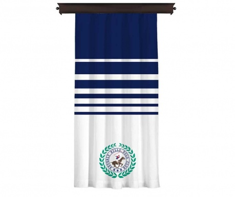Draperia Polo Club Logo Dark Blue 140x260 cm
