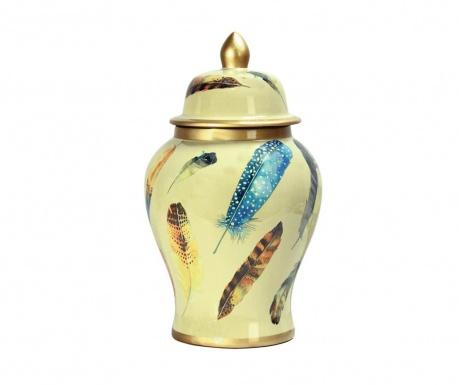 Dekorační nádoba s víkem Feather