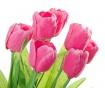 Umjetni cvijet u posudi za cvijeće Tulip Pink