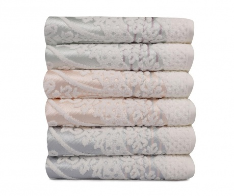 Sada 6 ručníků Blanco 50x90 cm