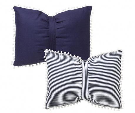 Zestaw 2 poduszek dekoracyjnych Marina Blue 45x60 cm