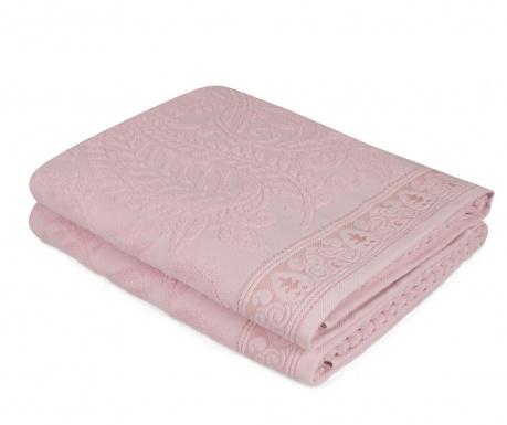 Set 2 kupaonska ručnika Noktali Sal Pink 90x150 cm
