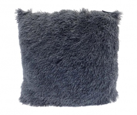 Perna decorativa Long Fur Soft Touch Dark Grey 40x40 cm