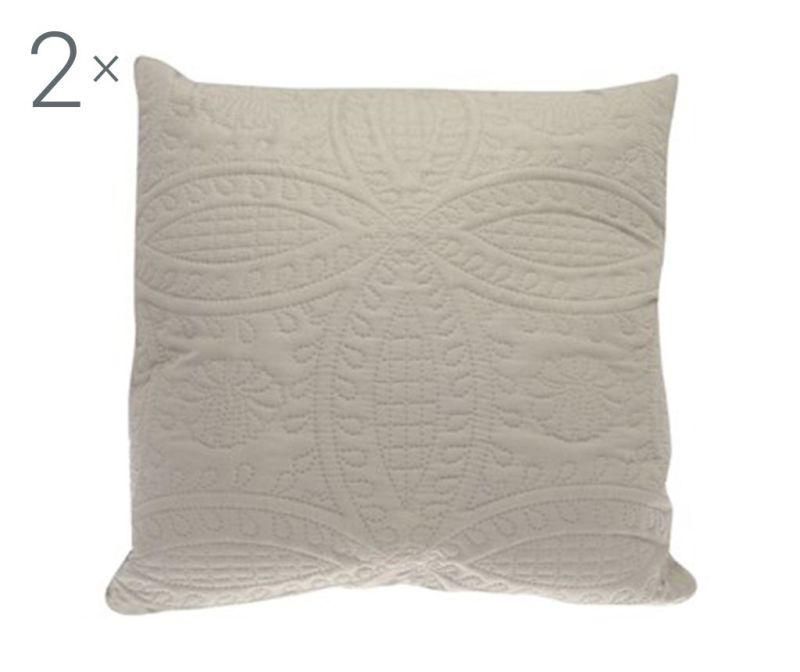 Set 2 jastučnice Parisienne Latte 43x43 cm