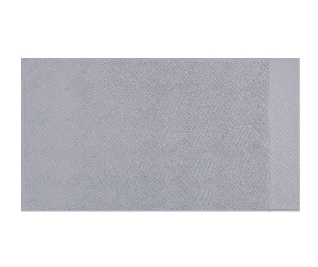 Esse Bordur Grey 2 db Fürdőszobai törölköző 50x90 cm