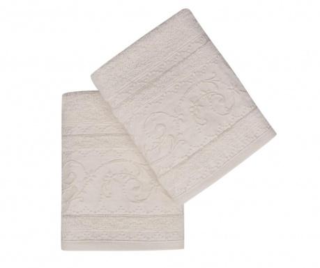 Set 2 kupaonska ručnika Lucca Ecru 50x90 cm
