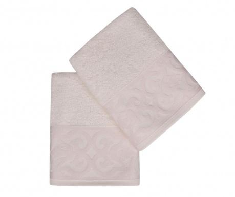 Sada 2 ručníků Monaco Powder 50x90 cm