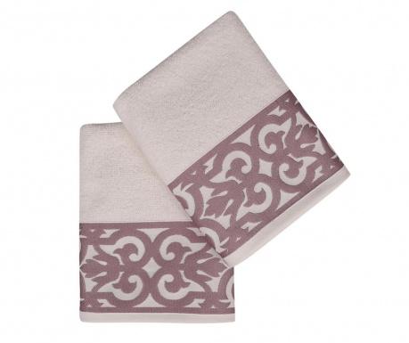 Sada 2 ručníků Monaco Purple 50x90 cm