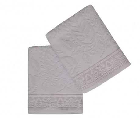 Sada 2 ručníků Noktali Sal Grey 50x90 cm