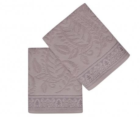 Комплект 2 кърпи за баня Noktali sal Lilac 50x90 см