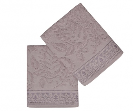 Noktali sal Lilac 2 db Fürdőszobai törölköző 50x90 cm
