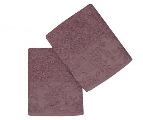 Set 2 kupaonska ručnika Pamela Dark Lilac 50x90 cm